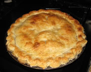 completed pear pie
