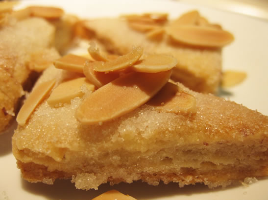 almond cookies from leftover pie crust