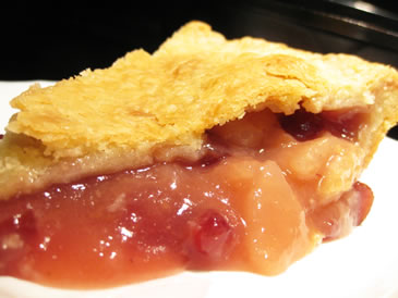 cranberry pear pie recipe