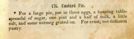 custard pie recipe of 1845