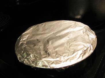 freeze pie in foil