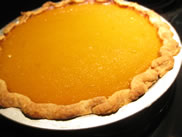 whole fresh pumpkin pie