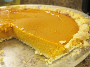 save your leftover pumpkin custard pie