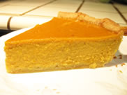 a slice of libby pumpkin pie