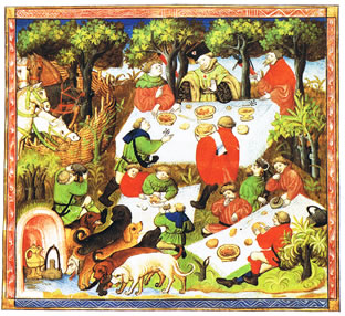 medieval nobleman pie history picnic
