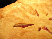 peach raspberry pie whole