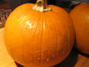 a clean real pumpkin