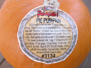pie pumpkin label