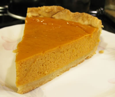 pumpkin pie less calories