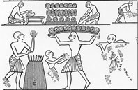 rameses iii bakery spiral shaped bread pie history