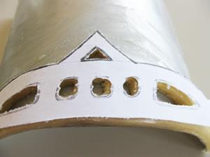 tiara pie template on pastry