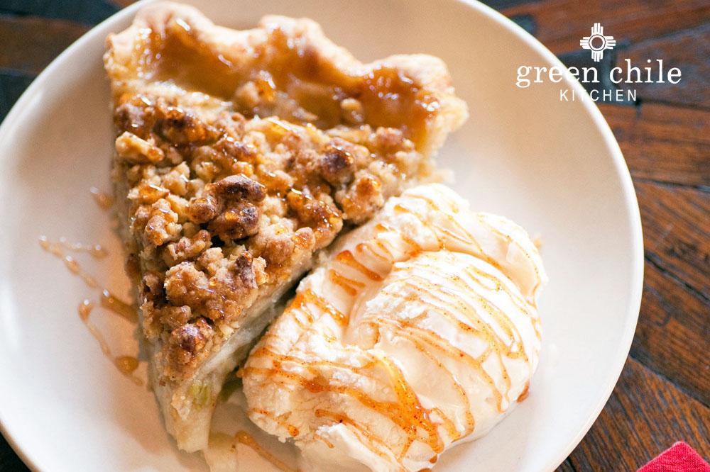 apple green chile pie