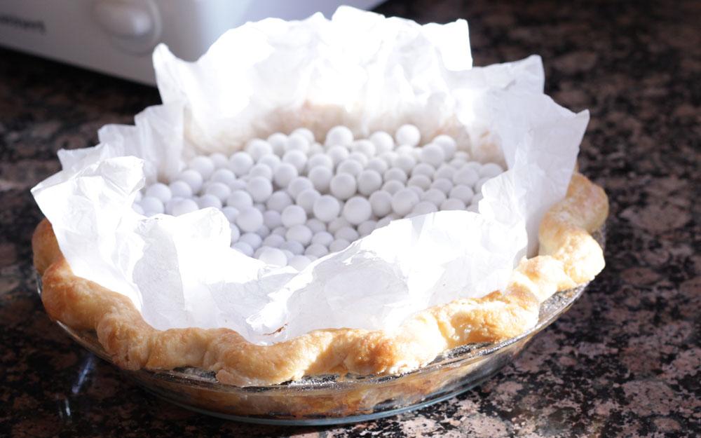 blueberry pie blind baked crust