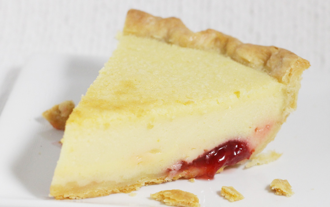 Buttermilk Pie Recipe with Fruit Compote