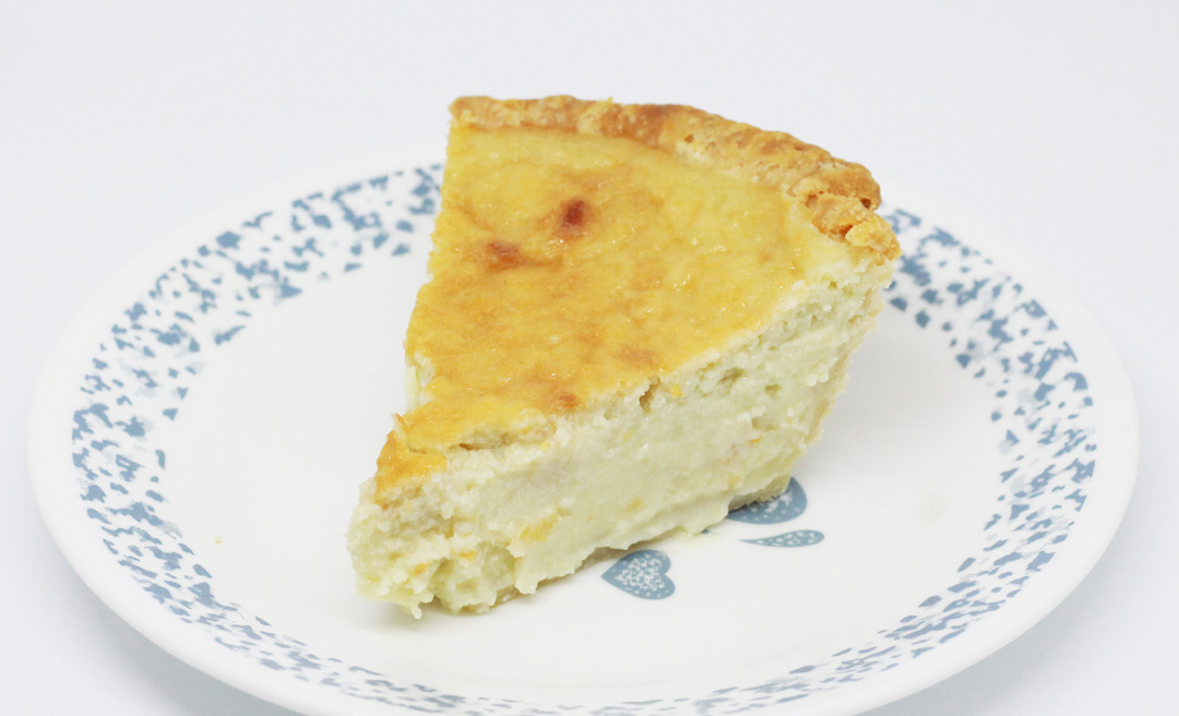 Coconut Custard Pie with Almond Flour