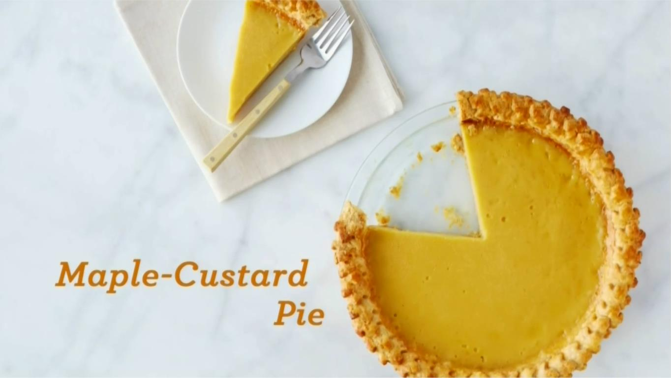new england maple custard pie