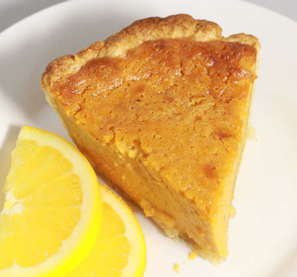 Citrus Sweet Potato Pie with Pizzazz