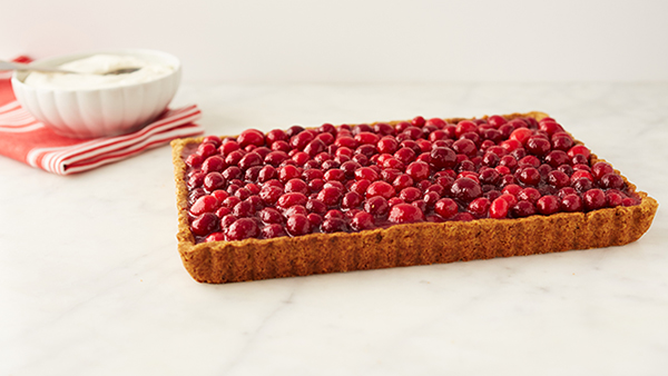 walnut cranberry tart